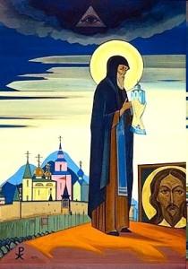 Н.К. Рерих. Картина «Святой Сергий Радонежский» 1932 г.