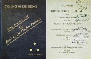 Книга «Голос Безмолвия», подаренная Е. П. Блаватской Л. Н. Толстому