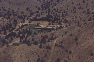 Раджнишпурам, штат Орегон. Дом, в котором жил Ошо. Лето 1982 г., США