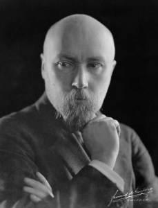 Фото-портрет Н. К. Рериха. Чикаго. 1921.