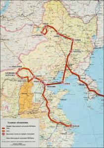 Маршрут Маньчжурской экспедиции Н.К.Рериха 1934-1935 гг.
