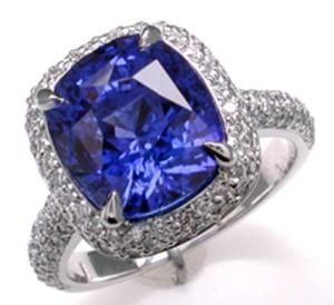 Сапфир кольцо
